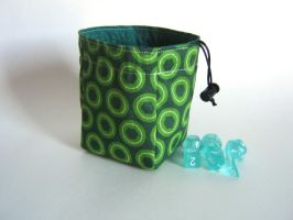 Double Greens Dice Bag by mousch
