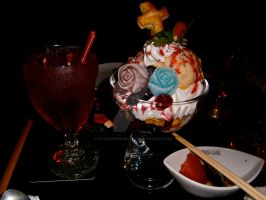Vampire Cafe, Ginza, Dessert and Drink by FallenCherryBlossom