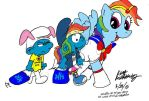 Grexy and Dashie at Kawaii Kon - Color Draft #1 by NewportMuse