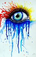 Watercolor Eye by Jyika