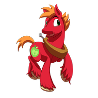 Younger, Short Mane Big Mac by marioandsonicFTW