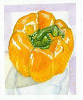Food I Ate: Yellow Bell Pepper by lozartist