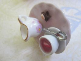 Pink Creamer Tea Ring by CandyChick