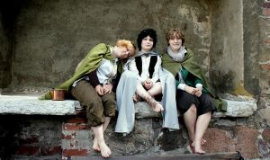 With my dear Sam and Pippin by Miu-I-N