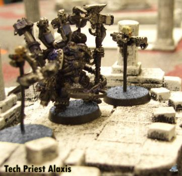 40k Tech Priest Miniature by Proiteus