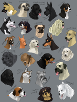dog icons - WORKING GROUP by shelzie