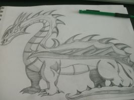 Sketch: Dragon by Feather-tan