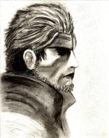 Solid Snake Sketch by DaveW2theoodward