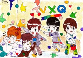 Chibi TVXQ by Cassiopeia-chan