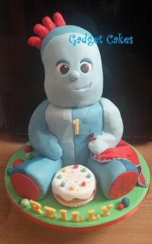 Iggle Piggle Cake In the night garden by gadgetcakes