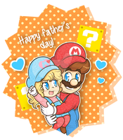 .:When I grow up, I wanna be like you, Daddy!:. by CloTheMarioLover