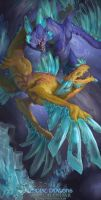 2017 Zodiac Dragons Calendar - Pisces Dragon by The-SixthLeafClover