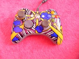 Playfully Colored Xbox 360 Controller by Bunneahmunkeah