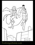 Superman and Power-Girl 1 by sebastiendardenne