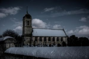 Simple Snowy Church by DarkKadath