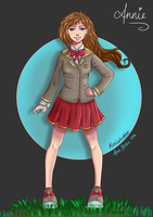 Schoolgirl Annie by kozieBubble