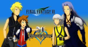 FF7 and KH by ChronoZoul