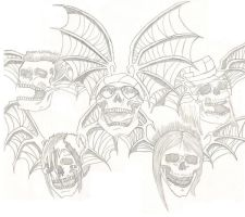 Avenged Sevenfold Deathbats by chibana08