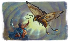 Numenera: Stratharin War Moth by LeeSmith