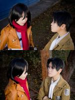 Mikasa and Levi by Witchiko