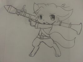 - Sketch chibi - Armed Cuteness 8 by Tukari-G3