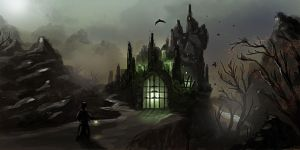 Draculas Castle: Part II by dustycrosley