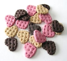 Neapolitan Cookie Hearts - Deco Den by SabrinaDeeBerry