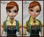 repainted ooak limited edition frozen fever anna. by verirrtesIrrlicht