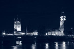 Blue Midnight Parliament - HDR by somadjinn