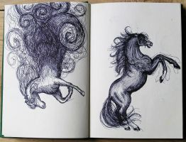Sketches horse by iristerwisscha