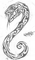 .:Tribal Snake:. by bloodyxgun