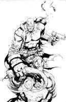 Hellboy inks by benjonesart