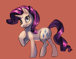 Rarity the Unicooooorn by AndrewsarchusJones