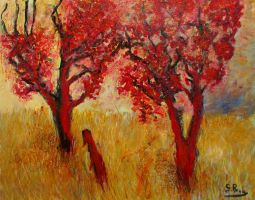 red trees by glenox66