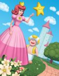 Princess and Toad by electronicron