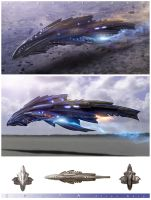 SPORA Alien Ship by angelitoon