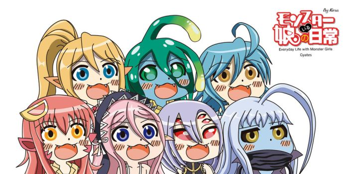Monster Musume Gyate Squad by Kirbmaster