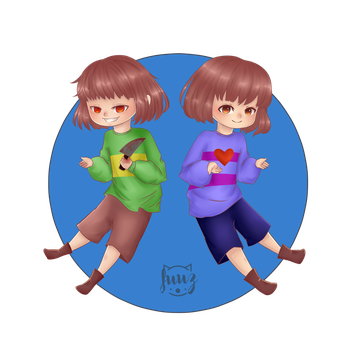 F: Chara and Frisk by Fuuwa