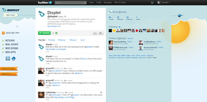 Displet Twitter v1.0 by bilalm
