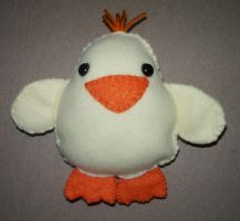 Easter Chick Plushie by kiddomerriweather