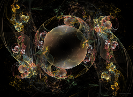 Abstract Bubbles 3 by Alvenka