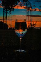 5 1018 Wine Glass Sunset by Nikonthog