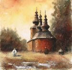 The orthodox church in Blechnarka by sanderus