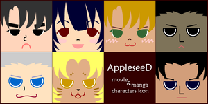 Appleseed characters icon by RyuAmano