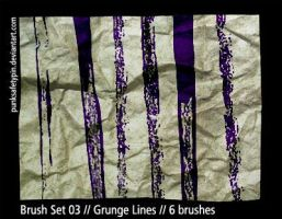 Brush Set 03 - Grunge Lines by punksafetypin