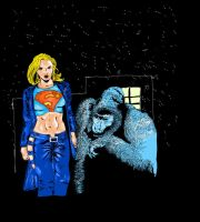 Gorilla Grodd vs Supergirl by Ghostdogcs