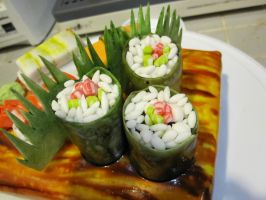 sushi cake 2 by recycledrapunzel
