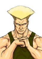 Guile colored Sketch by AlessandroGazzoli