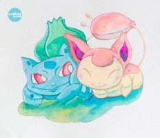 Bulba and  Skitty S2 by MarceloCielo