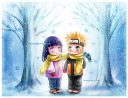 Naruhina - Winter date by Dhiary